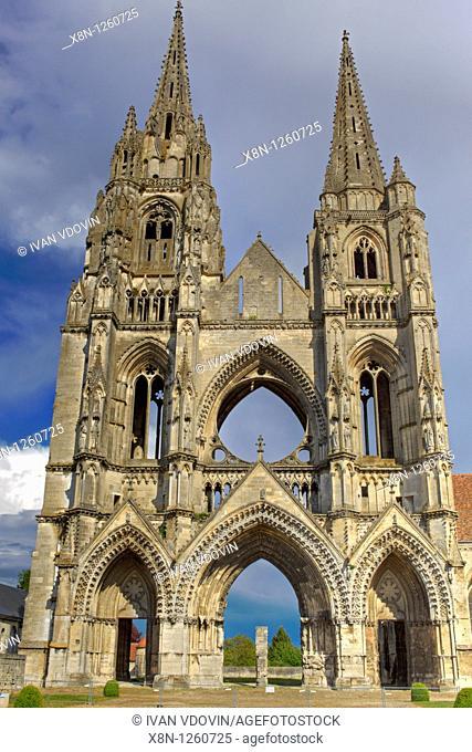 Abbey of St  Jean des Vignes, Soissons, Aisne department, Picardy, France