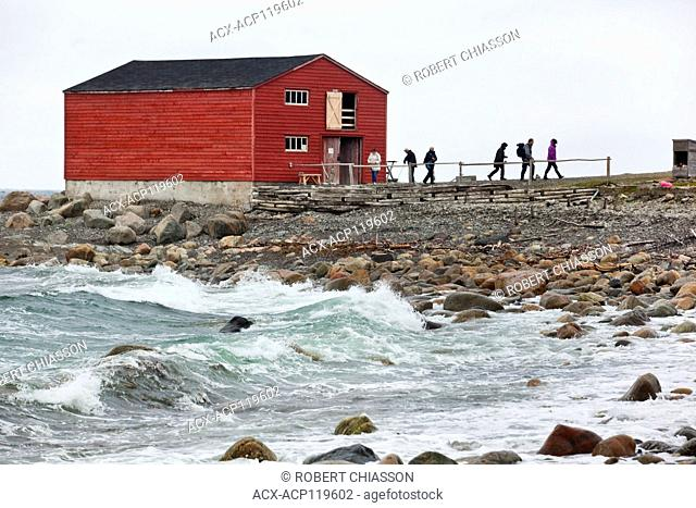 Restored traditional fish store housing the Mudge family fishing gear from the 40s to the 70s. Broom Point Fishing Premises, Gros Morne National Park