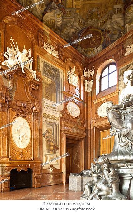 Austria, Vienna, Belvedere Palace Baroque directed by Johann Lukas von Hildebrandt in the early 18th century, lived the Lower Belvedere
