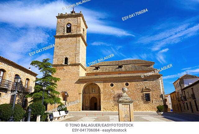 Church El Toboso village of don Quijote Dulcinea in toledo of La Mancha Spain