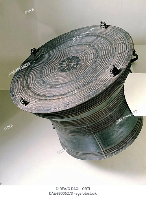 Myanmar - 19th century art - Bronze drum from the White Karen States  Paris, Musée National Des Arts Asiatiques Guimet (Oriental Art Museum)