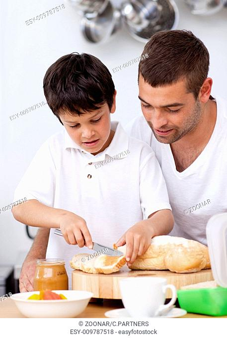 Preparing Chocolate Father Stock Photos And Images Age
