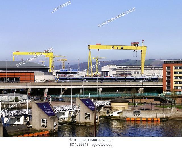 Lagan Weir, Odyssey Arena, M3, Laganside Harland & Wolff