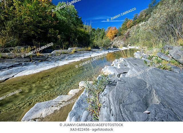 River at El Chate valley, Huesca province, Aragon, Spanish pyrenees