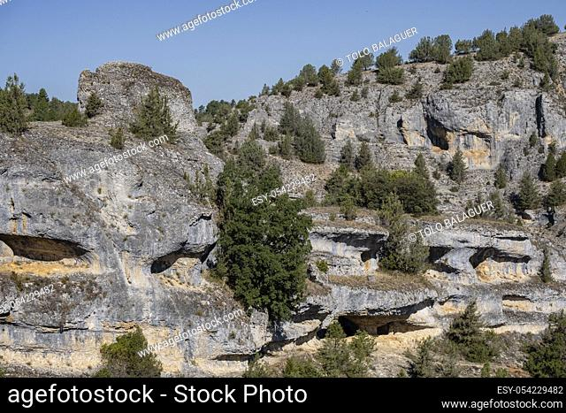 Parque Natural del Cañón del Río Lobos, Soria, Comunidad Autónoma de Castilla, Spain, Europe