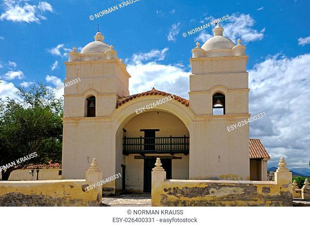 colonial church in molinos, argentina