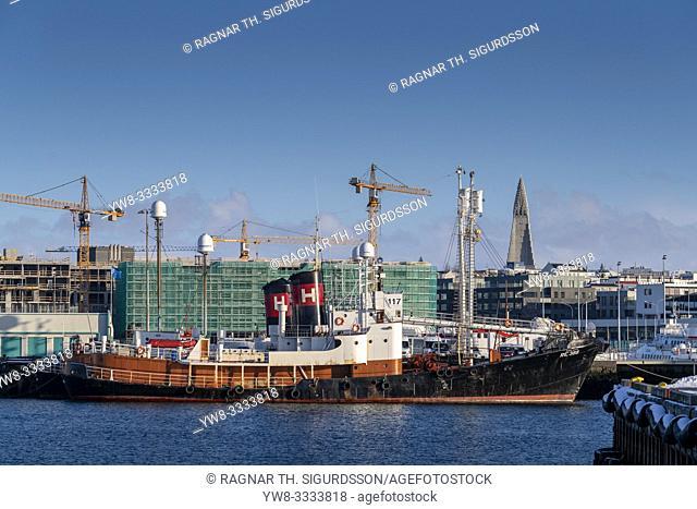 Reykjavik Harbor and Construction, Reykjavik, Iceland