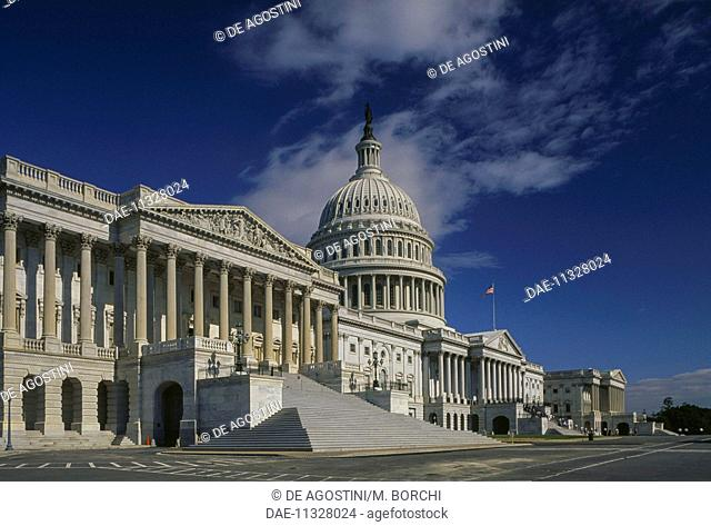 Capitol Building, seat of United States Congress, 1827, Washington DC, District of Columbia, United States of America, 19th century
