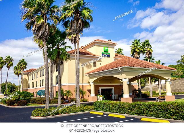 USA, Florida, Clermont, Holiday Inn Express motel entrance