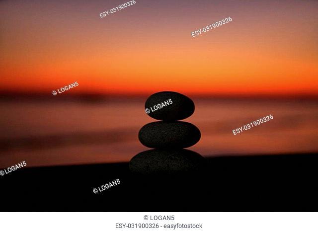 Three stacked stones