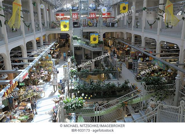 Indoor market, Dresden, Saxony, Germany, Europe