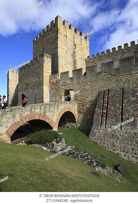 Portugal, Lisbon, Castelo de Sao Jorge, Castle,
