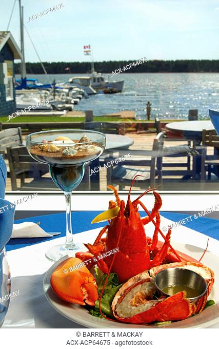 Lobster plate, Boat Shop steak & Seafood Restaurant, Alberton, Prince Edward Island, Canada