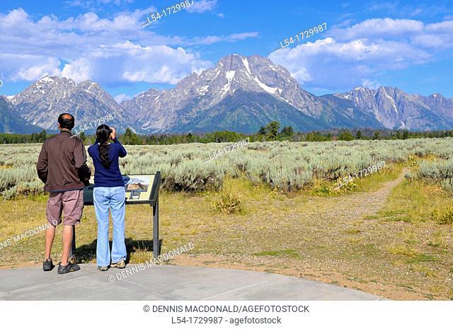 Mount Moran Grand Teton National Park Wyoming WY United States