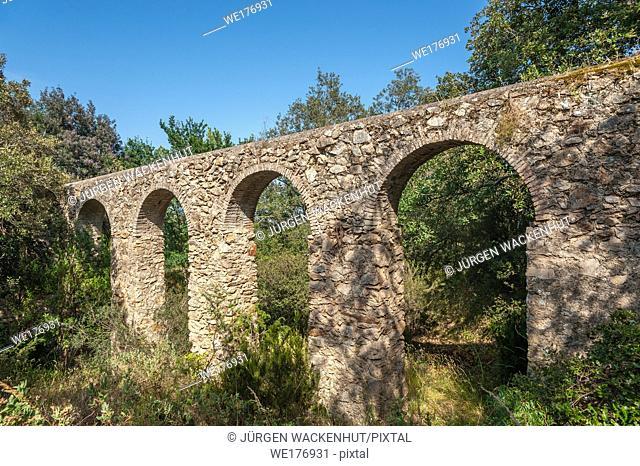 Aqueduc des 25 ponts, Roquebrune-sur-Argens, Var, Provence-Alpes-Cote d`Azur, France, Europe
