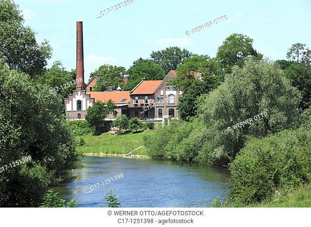 Germany, Wesel, Rhine, Lower Rhine, North Rhine-Westphalia, NRW, Wesel-Fusternberg, old waterworks on the Lippe, technical monument, museum