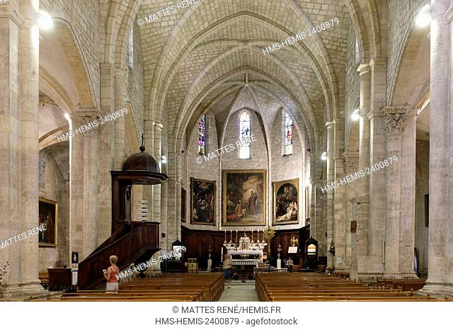 France, Gard, Saint Gilles, 12th-13th century abbey, listed as World Heritage by UNESCO under the road to St Jacques de Compostela in France