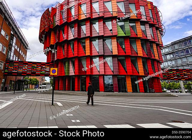 Gothenburg, Sweden Pedestrians and buildings in the Lindholmen Science park, a high tech hub with the Chalmers University of Technology