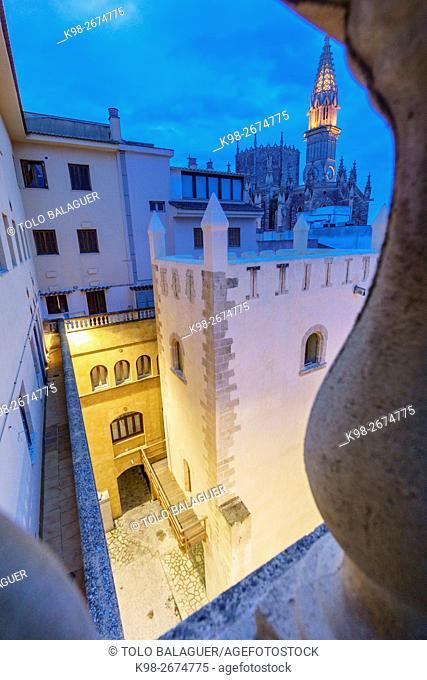 Torre del Palau,siglo XIV, parte del antiguo palacio de los reyes de Mallorca, construido por el rey Jaume II, Manacor, Majorca, Balearic Islands, Spain