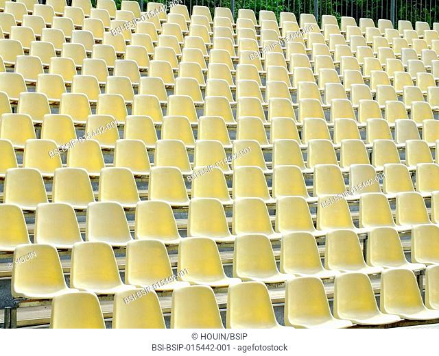 Stand with seats for a show