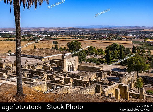 Spain, Andalusia, Cordoba, Medina Azahara. Medina Azahara is the ruins of a vast, fortified Andalus palace-city built by Abd-ar-Rahman III (912-961)