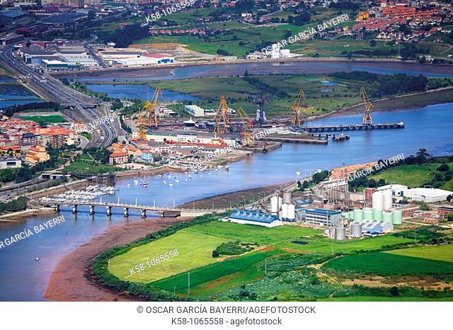 Aerial view, Santander, Cantabria, Northern Spain