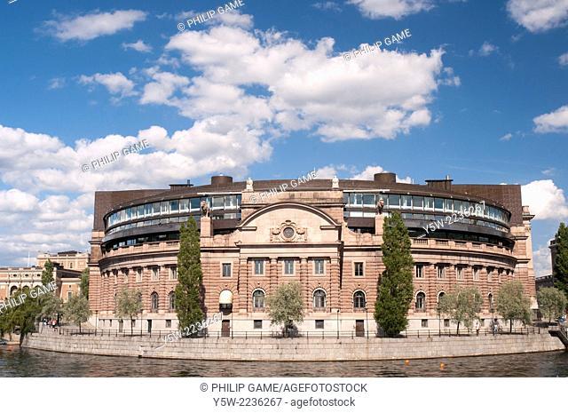 Riksdagshuset or Parliament building, Stockholm