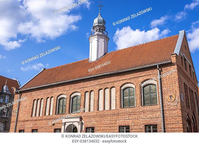 Former City Hall building, today the library on the Old Town of Olsztyn city in Warmian-Masurian Voivodeship of Poland