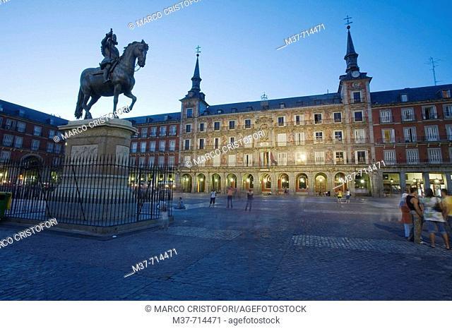 Spain. Madrid. Plaza Mayor