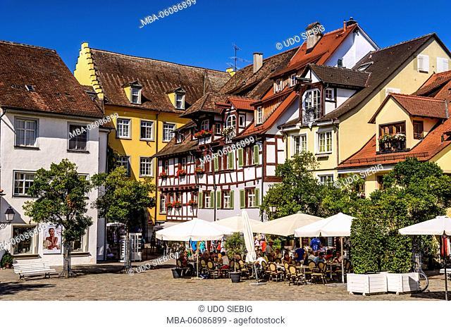 Germany, Baden-Wurttemberg, Lake Constance, Meersburg, Oberstadt / Upper City, Schlossplatz