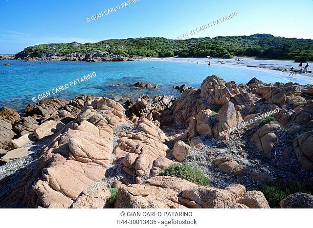 Costa Smeralda, Sardinia, Italy the beach of Portu li Coggi also called Spiaggia del Principe