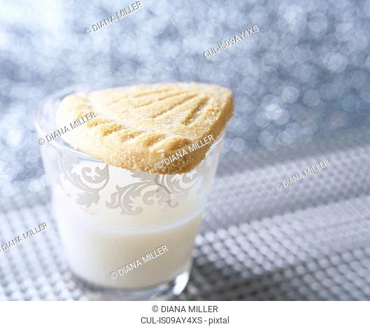 Scottish Shortbread, glass of milk