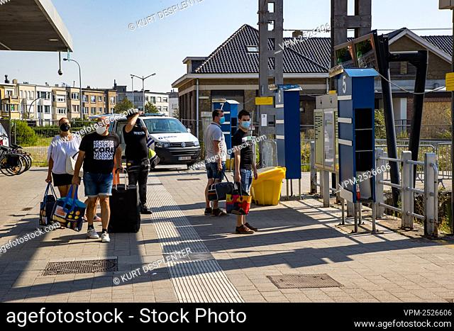 Illustration picture shows the railway station, in Blankenberge, Sunday 09 August 2020. After Yesterday's massive fight at the beach