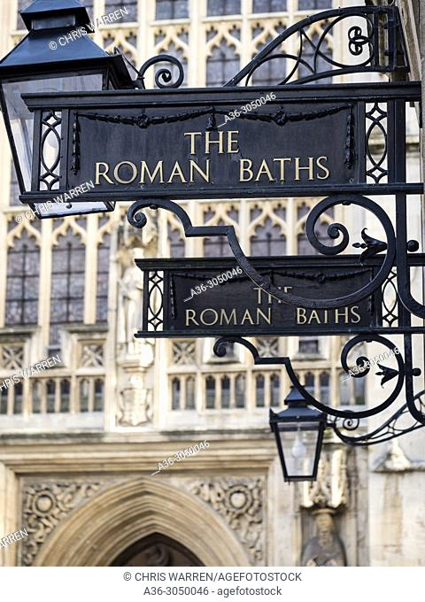 The Roman Baths and Abbey Bath Avon England