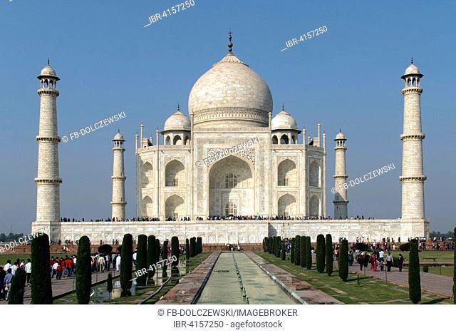 Taj Mahal, fountain, tomb, Mausoleum, Agra, Uttar Pradesh, India
