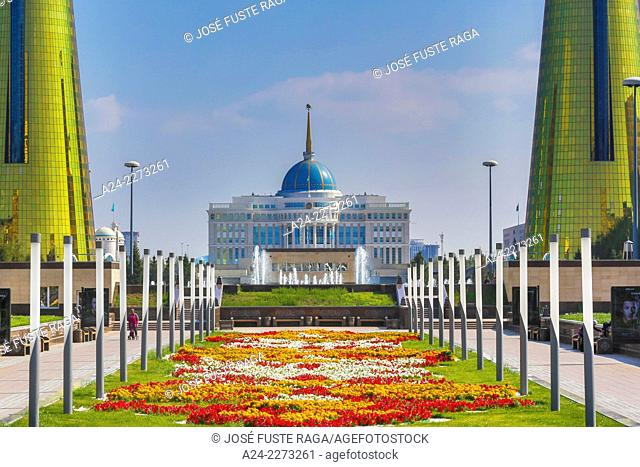 Kazakhstan, Astana City, New Administrative City, Nurzhol Avenue , Presiden Palace -Akoda