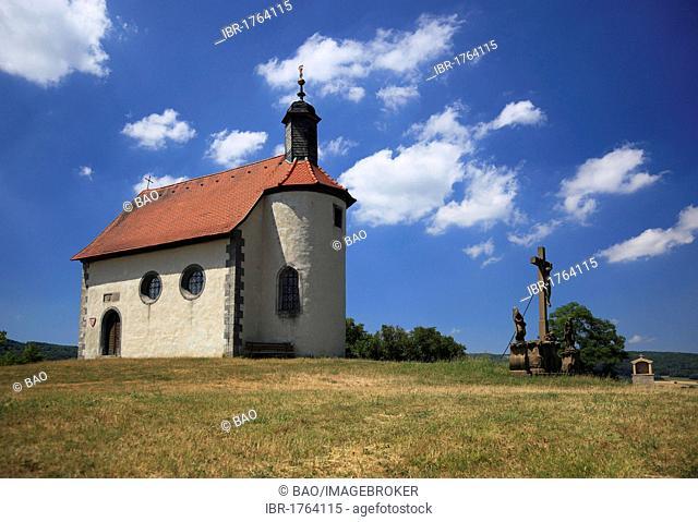 Gangolfskapelle chapel at Fladungen, Rhoen-Grabfeld district, Lower Franconia, Bavaria, Germany, Europe
