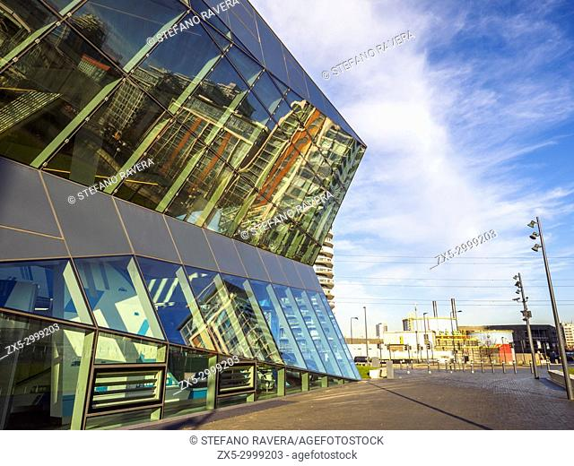 The Crystal is a building on Royal Victoria Dock in east London that contains a permanent exhibition about sustainable development