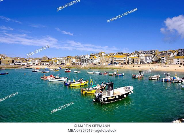 Fishing port, St Ives, Cornwall, England, UK