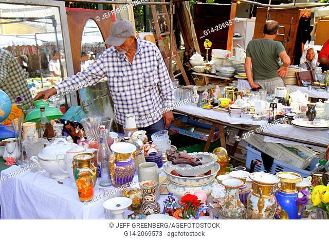 France, Europe, French, Paris, 18th arrondissement, Les Marche aux Puces de Saint-Ouen, Puces Flea Market, marketplace, shopping, selling buying, used, items