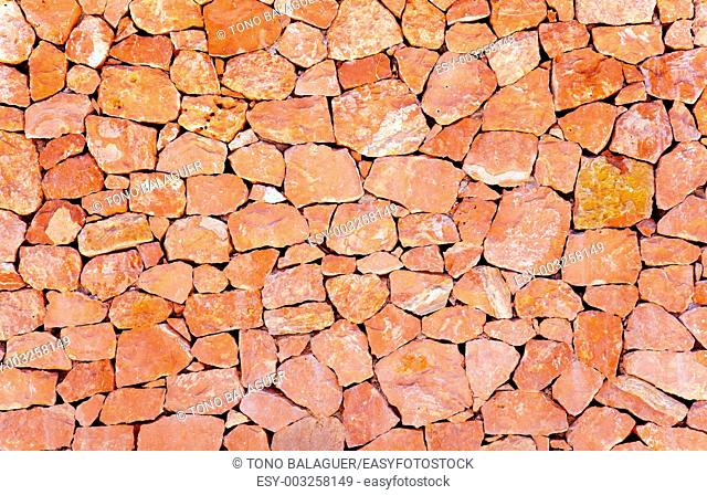 stone masonry wall pattern background from Balearic Islands