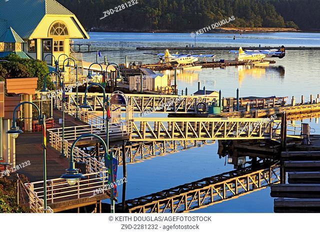 Harbourfront and marina at dawn, Nanaimo, Vancouver Island, British Columbia