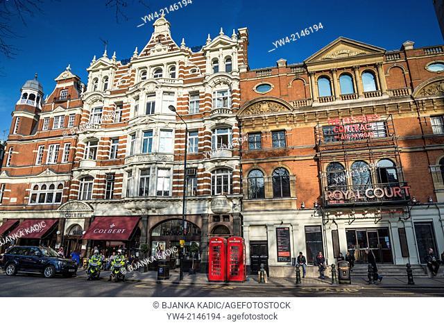 Royal Court theatre, Sloane Square, Chelsea, London, UK