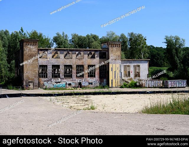 14 July 2020, Brandenburg, Potsdam: The former combined heat and power plant and the future energy centre on the former Krampnitz barracks site