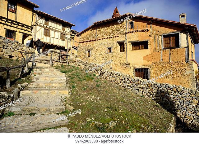 Stairway and houses of Calatañazor, Soria, Spain