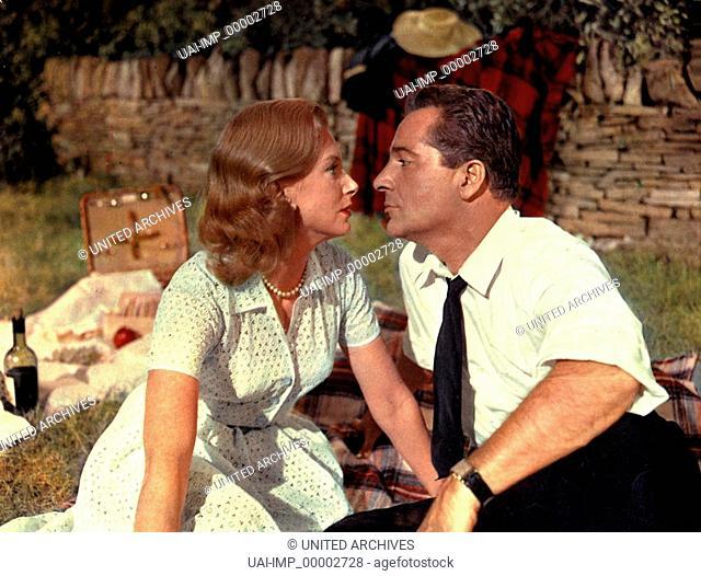 Französische Betten, (COUNT YOUR BLESSINGS) USA 1959, Regie: Jean Negulesco, DEBORAH KERR, ROSSANO BRAZZI, Stichwort: Picknick zu zweit