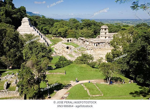 Maya archaeological site. Palenque. Chiapas. Mexico