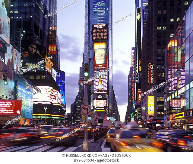 Street Scene, Times Square, Mid-town, Manhattan, New York, Usa