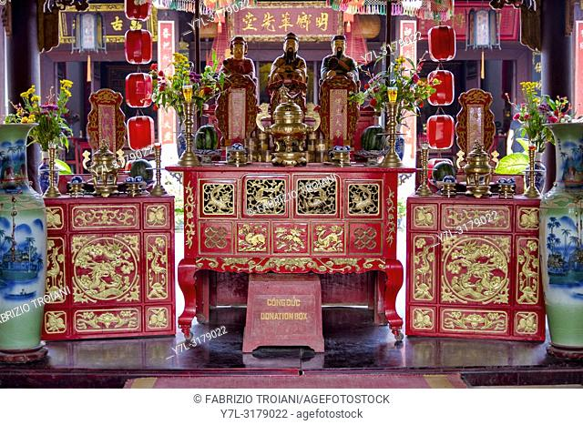 Shrine in the Quan Cong Temple, Hoi An Vietnam