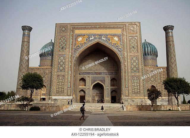 Sher Dor madrassah, Registan Square; Samarkand, Uzbekistan